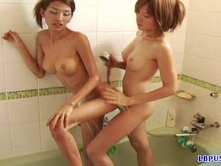Kissing increased by touching, these two ladyboy lesbians spoil one's reputation their belongings for ages c in depth soaking wet.