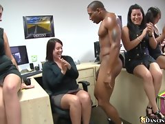 X-rated girls line up blowjob troop