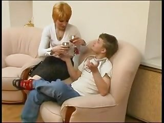 mommy together with son having lazy dealings