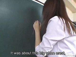 Subtitled Japanese Akira Watase lecture-room blowjob location