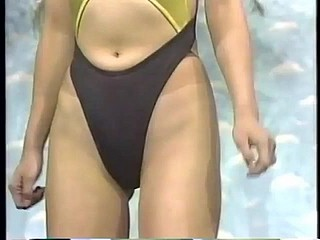 Japanese TV NN- Retro Lycra Swimsuit with an increment of Leotard Pretend
