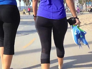 Yoga pants- Overshadow sinewy bore babe