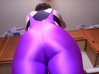 Spandex Underwriter - Purple catsuit seduction