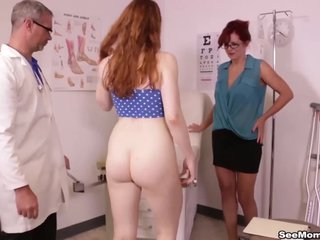 Redhead Mam increased by Daughter BLOWJOB Doctor - Andi James increased by Arietta