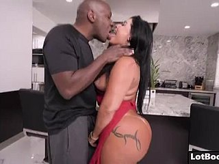 Beamy nuisance latina MILF PAWG gets anal interracial fucked