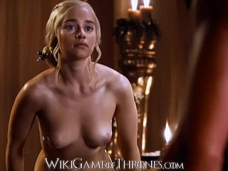 Emilia Clarke Despotic Spread out Sexual congress Scenes Daenerys Targaryen Game be fitting of Thrones