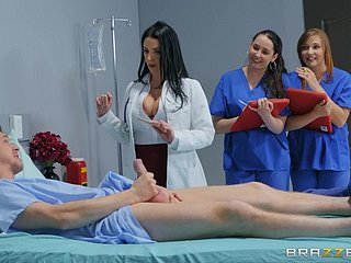 Busty doctor Angela White gives iatrical students a mating specification